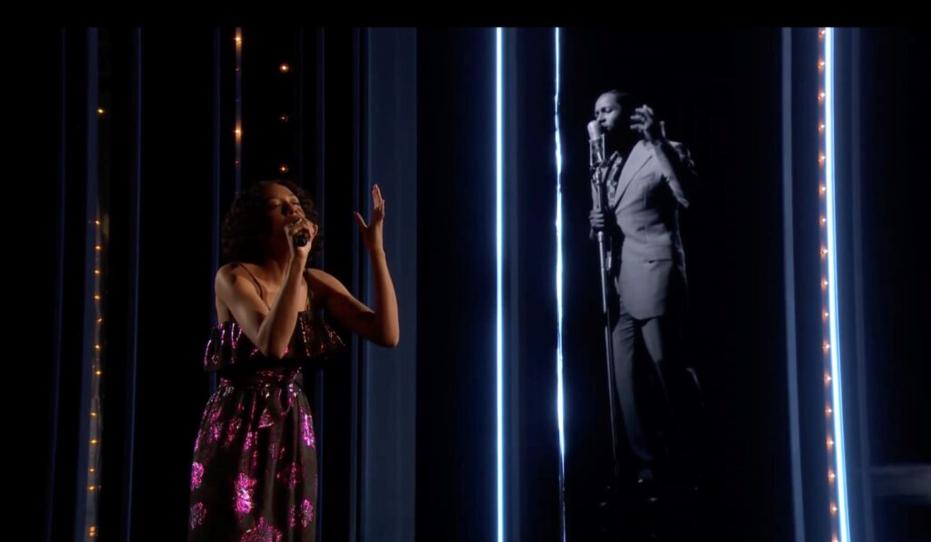 Corinne Bailey Rae performs at the 2021 BAFTA Film Awards